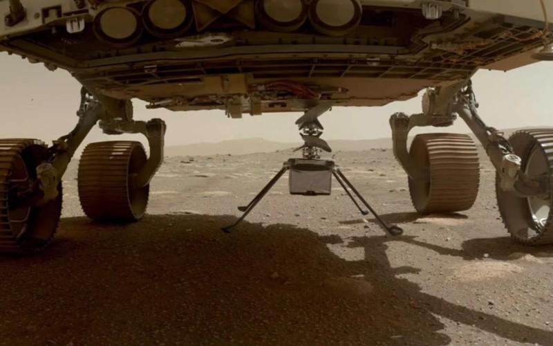 Helicóptero Ingenuity já se separou do rover Perseverance