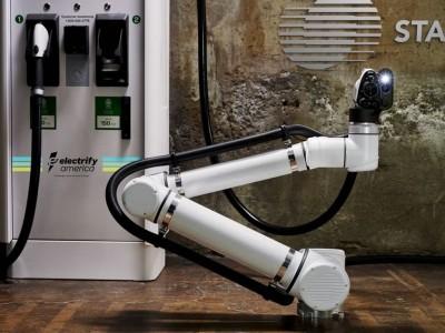 Primeira estação de carregamento robótica para carros elétricos e autónomos em 2020